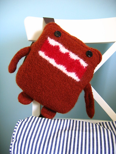 Felted backpack - its really very cute!  And the pattern is free, too!