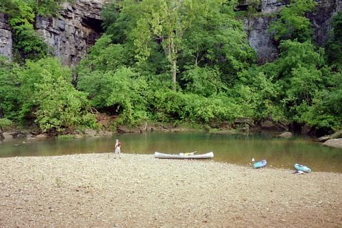 Campsite along the Jack\'s Fork River, 2006
