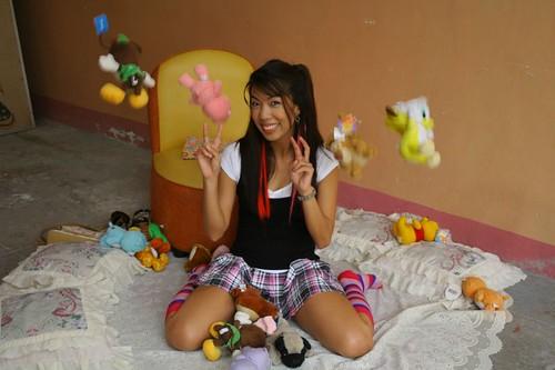 Rona loves stuffed toys