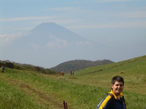El Monte Fuji al fondo