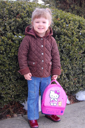 Grace's first day of preschool!