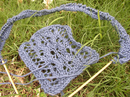 antique lace swatch and start