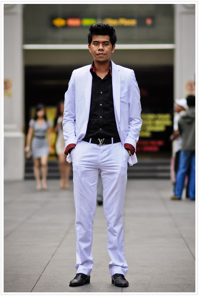 Street Portrait powerful pose man asian photo