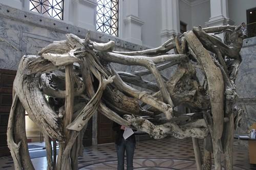 Dead driftwood but bronzed horse