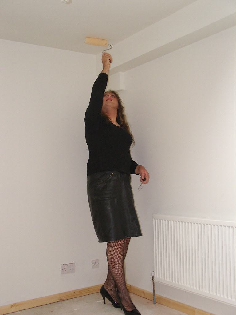 Painting the ceiling in heels