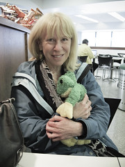Rose and Junior the plush frog