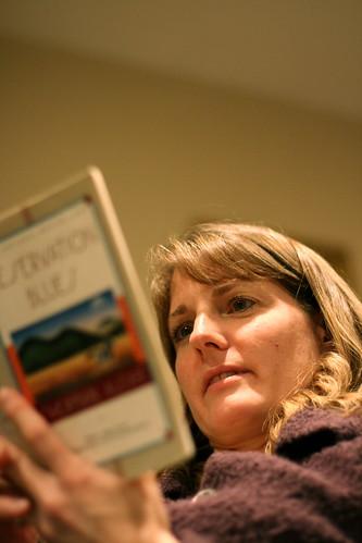 Elaine reading