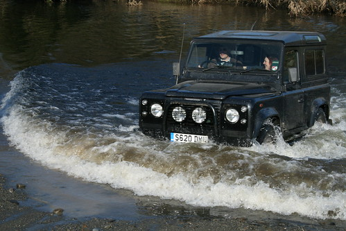 Land Rover 90 Welsh Highlands River Crossing by Nick Wilkes.