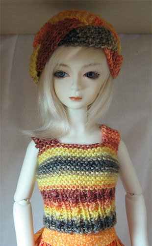 Anya in Knitted hat and top