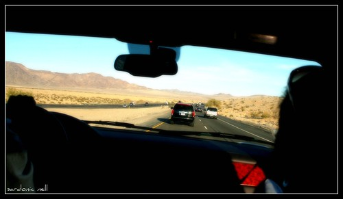 Driving By The Mojave Desert