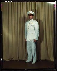 Marine Corps Major in dress white uniform, W[o...