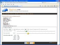 MpgGenie.com Toyota Prius mpg ratings