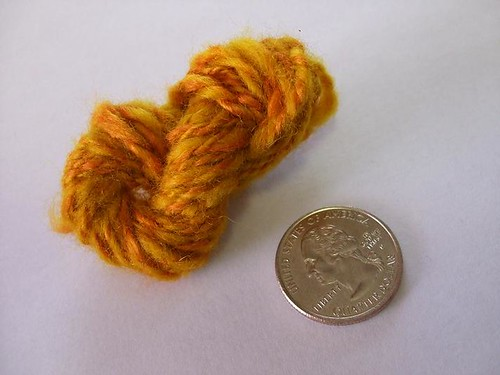 Turmeric Dyed 2 ply yarn Tiny Skeinlette