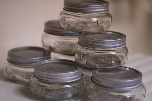 Jars for canning pear butter