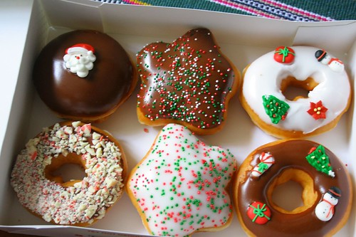 Krispy Kreme Christmas donuts