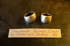handmade bronze rings by metal & thread