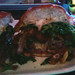Shoddy cell phone picture: Earl's Kitchen and Bar - the burger