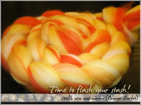 100% new wool merino (Orange Sherbet)