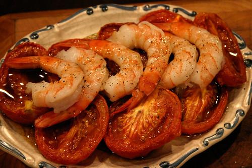 Shrimp and Roast Tomato Salad