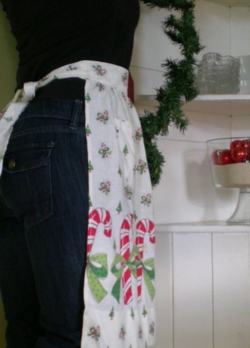 candy cane apron