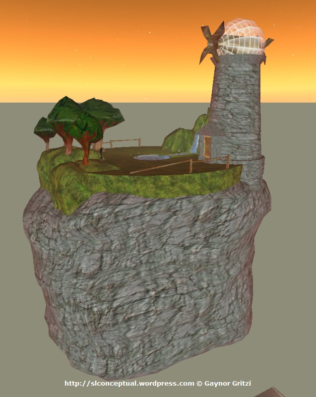 Floating Island with Windmill 12