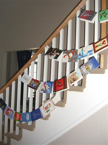 Christmas Cards on the Banister