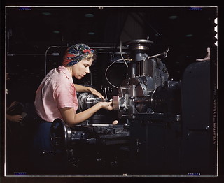 Woman machinist, Douglas Aircraft Company, Lon...