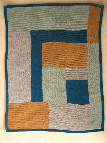 mom's moderne; first completed blanket