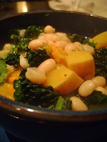 Butternut Squash , White Bean and Kale Soup