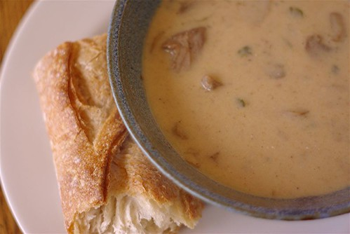mushroom soup for lunch