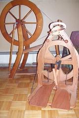 2 spinning wheels