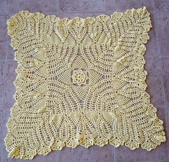 Finished lacy baby blanket 3