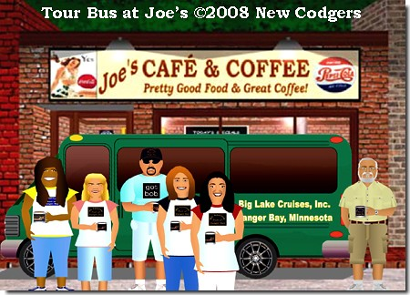 Tour Bus at Joe's ©2008 New Codgers