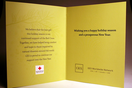 GES Company Christmas Card Inside