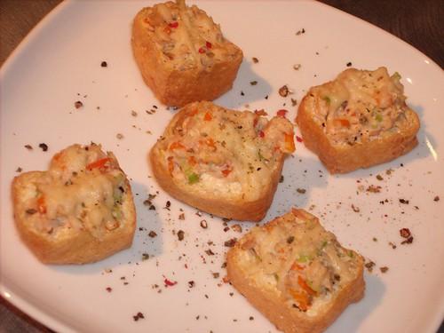 Tuna Salad Tofu Canapés