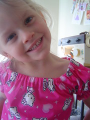 L. loves her new jammies