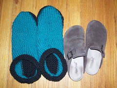 un felted clogs