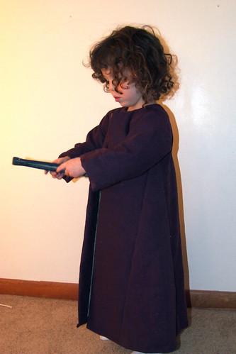 Coat, modeled