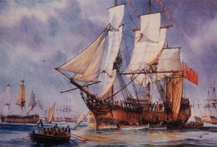 HMS Bounty Painting