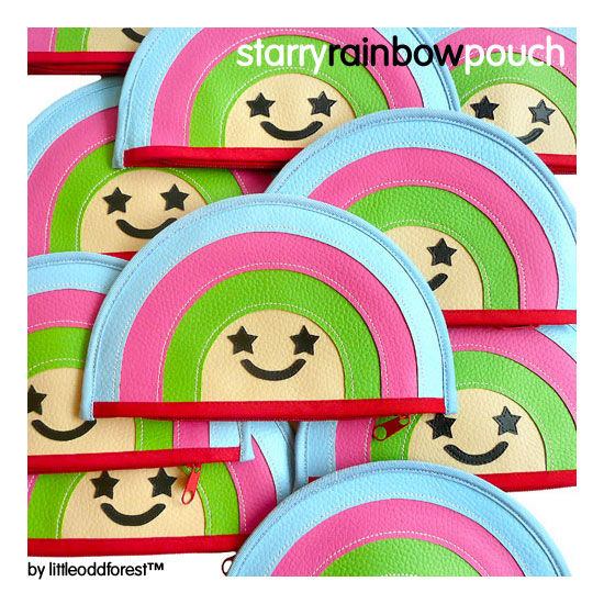 starry rainbow pouch