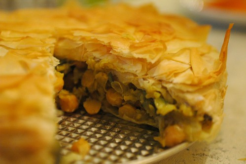 Zucchini and Chickpea Filo Pie
