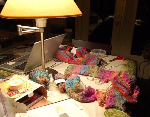 Assembling a sweater