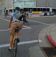Kyle on his Specialized bicycle near downtown San Jose California