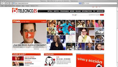 Telecinco web