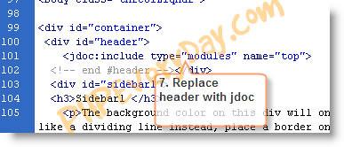 rewrite header code