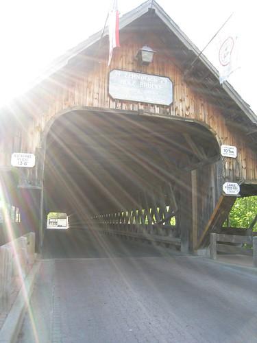 entrance to the bridge