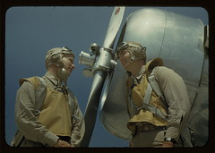 Marine lieutenants, pilots, by the power tow-p...