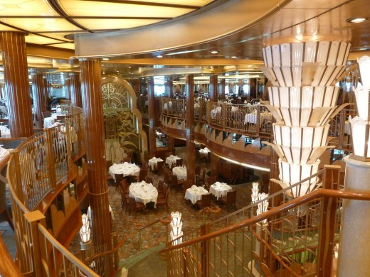 Brittannia Restaurant on Cunard Queen Elizabeth Cruise Ship