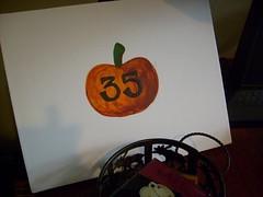 Pumpkin bday card 2007