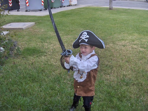 All good pirates have swords bigger than they are!